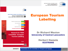 European Tourism Labelling - Research for TRAN Committee