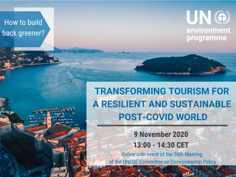 UNEP online event on 9th Nov 2020