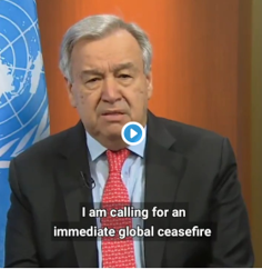 UN: calling for global ceasefire